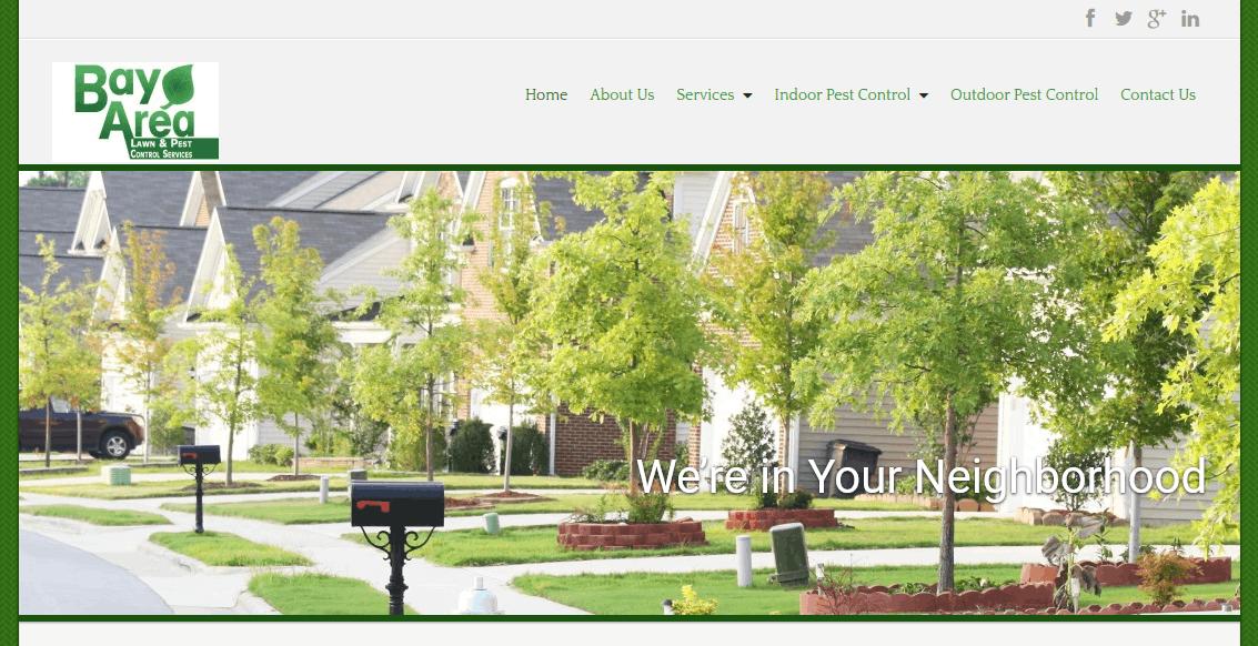 web design for pest control services